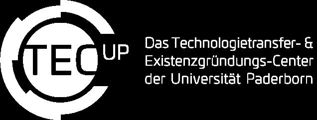 TecUP Logo weiß mit Claim