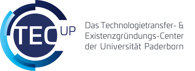 TecUP Logo mehrfarbig mit Claim