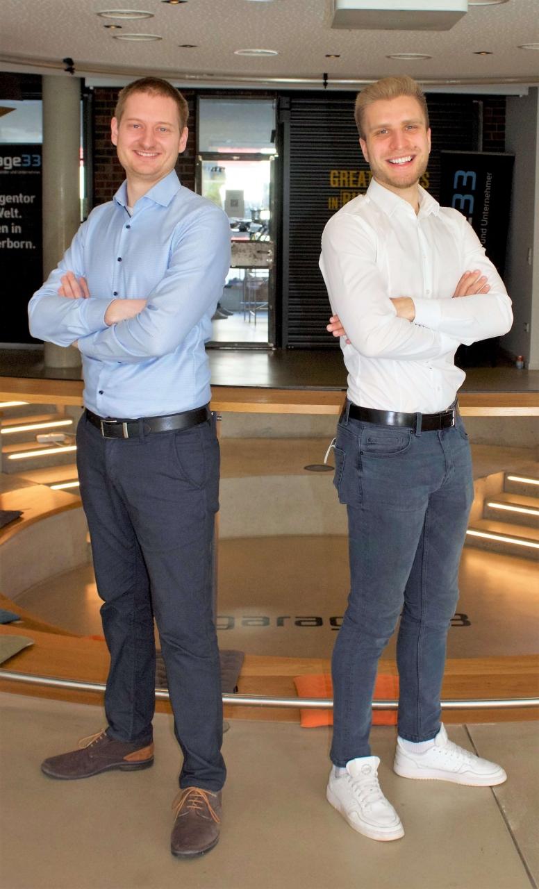 Die Gründer Sven Uthe und Christoph Milder von DEVITY