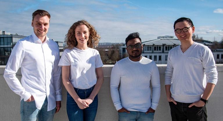 Das vierköpfige Team von MatchU